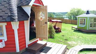 Красный гриль-дом