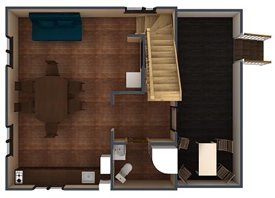 План первого этажа коттеджа №1