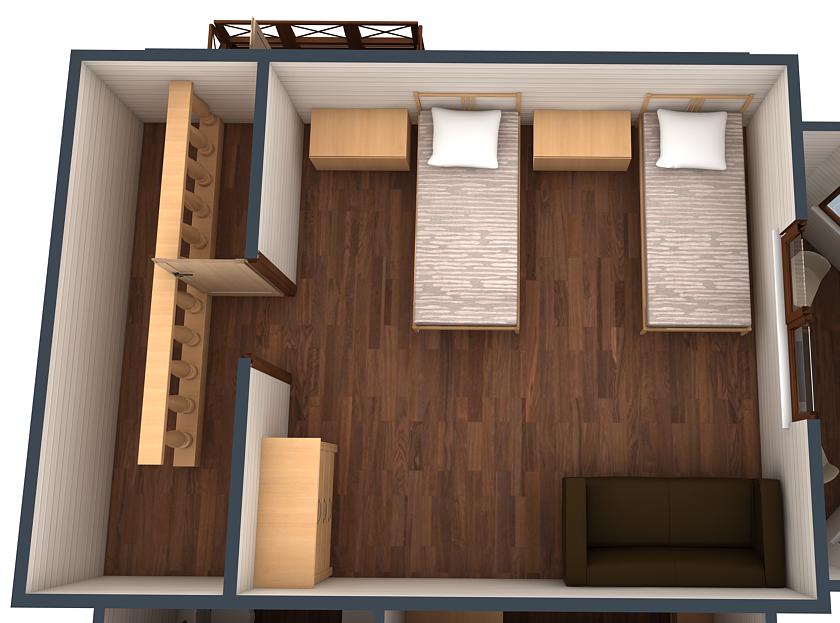 План второго этажа коттеджа №2
