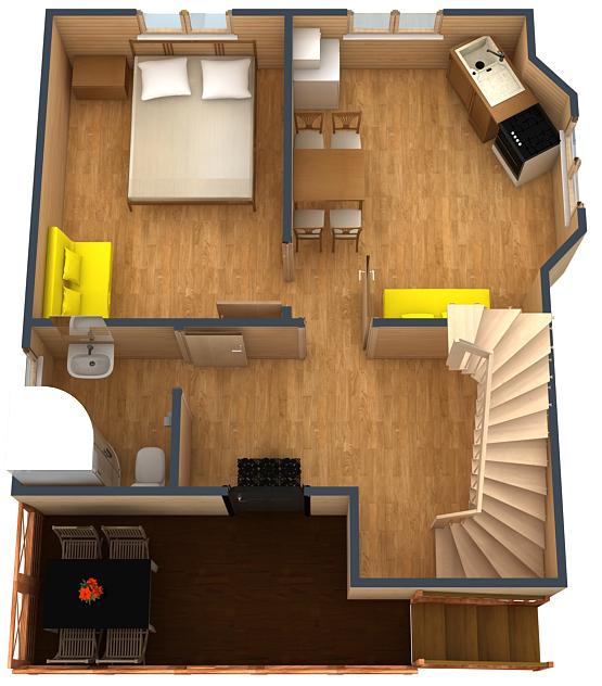 План первого этажа коттеджа №3