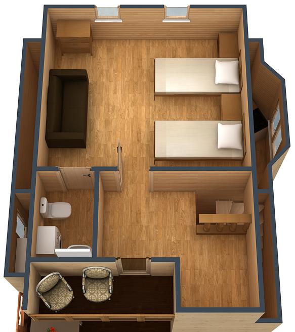 План второго этажа коттеджа №3