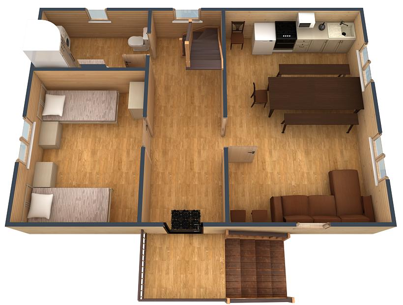 План первого этажа коттеджа №5