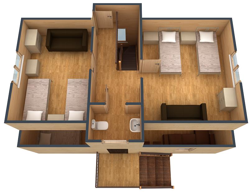План второго этажа коттеджа №5