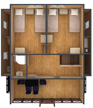 План второго этажа коттеджа №6